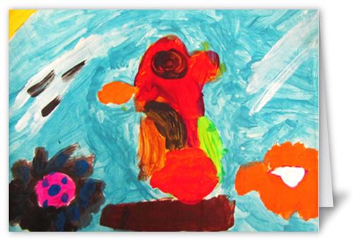 Kids Artwork Custom Card Project, Square