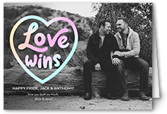 love wins pride month greeting card