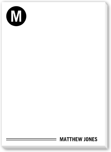 Monogram Notes 5x7 Notepad