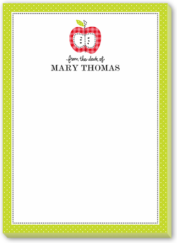 Apple A Day Border 5x7 Notepad