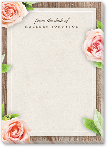 Floral Reminder 5x7 Notepad