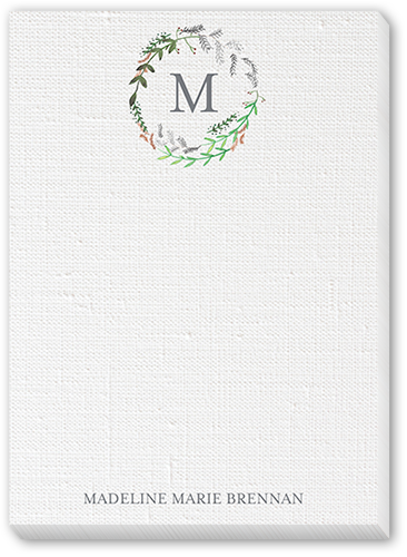 Canvas Wreath 5x7 Notepad