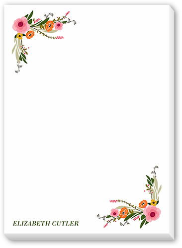 Floral Feeling 5x7 Notepad By Clover Shutterfly