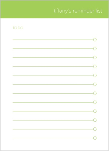 Green List 5x7 Notepad