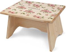 princess watercolor roses step stool