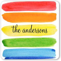 watercolor rainbow stickers