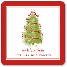 o festive tree stickers