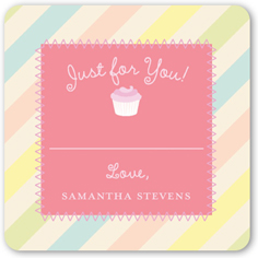cupcakes and stripes stickers