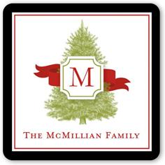 monogram tree stickers