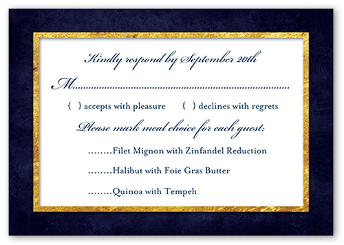 Enamored Passport Wedding Response Card