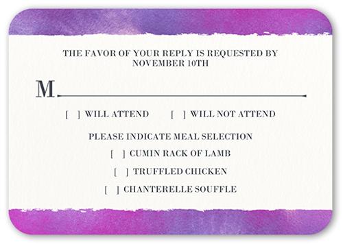 Romantic Wonder Wedding Response Card