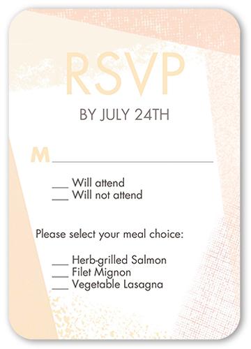 Textured Border Wedding Response Card