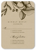 rustic and floral wedding response card