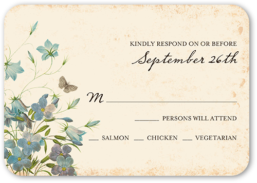 Wedding invitations 5 free samples free shipping shutterfly natural glade wedding response card stopboris Choice Image