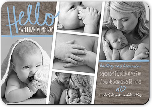 Hello Sweet Boy Birth Announcements Magnet – Birth Announcements Shutterfly