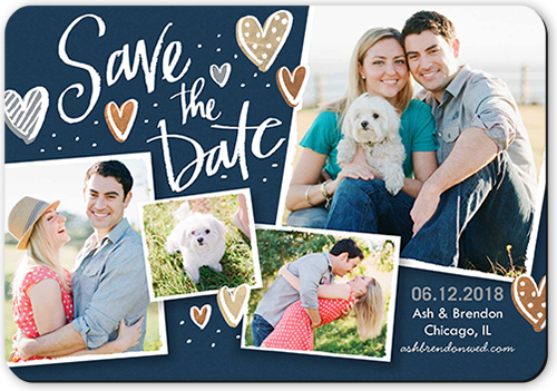 Brushy Hearts Save The Date