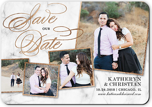 Marble Collage Save The Date, Rounded Corners