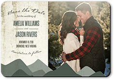 rustic horizon save the date stationerymagnet