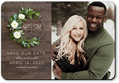 Photograph Save the Date Floral Save the Date 4.25x5.5 inch Calendar Save The Date Magnet Save the Date with Photo Magnet Save the Date