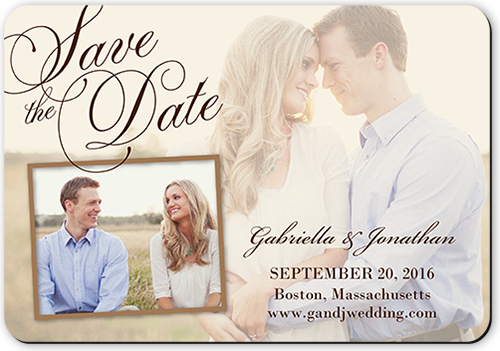 Romantic Overlay Save The Date