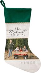 rustic white christmas christmas stocking