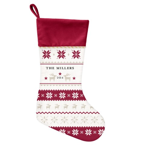 Festive Sweater Christmas Stocking, Cranberry, Multicolor