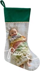 spreading peace christmas stocking
