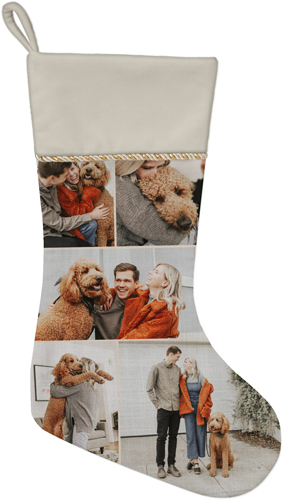 Gallery of Five Christmas Stocking, Natural, Beige