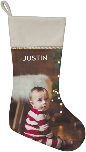 Photo Gallery Christmas Stocking, Natural, Multicolor