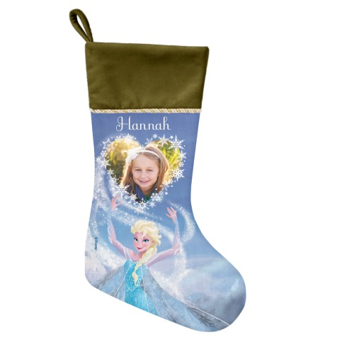 Disney Frozen Elsa Christmas Stocking, Moss Green, Blue