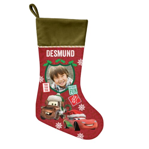 Disney Cars Mcqueen And Mater Christmas Stocking, Moss Green, Red