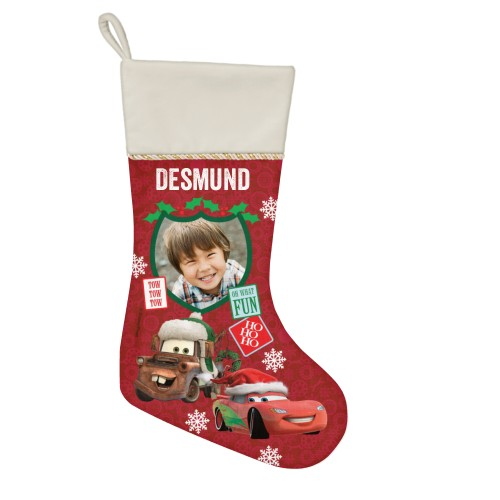Disney Cars Mcqueen And Mater Christmas Stocking, Natural, Red
