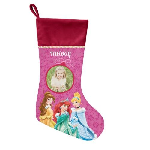 Disney Princesses Christmas Stocking, Cranberry, Pink