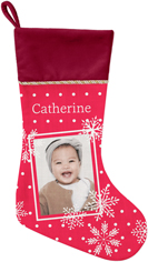 snowflake framed christmas stocking