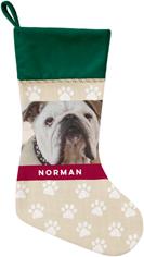 paw print christmas stocking