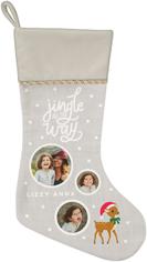 jingle christmas stocking