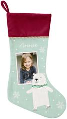 winter bear christmas stocking
