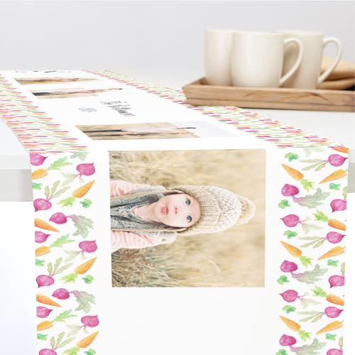 Fall Harvest Table Runner, 90 x 14, White