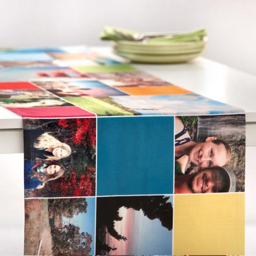 Monogram Memories Table Runner, 108 x 16, Multicolor