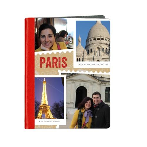 Stamped Memories ipad Case, Red, iPad 1,2,3,4, Beige