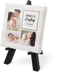 rustic family is everything tabletop canvas print