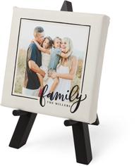 family script frame tabletop canvas print