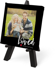 loved tabletop canvas print