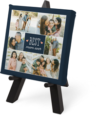 best mom hearts tabletop canvas print