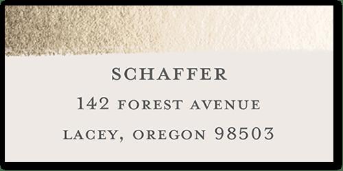 Gilded Gift Address Label