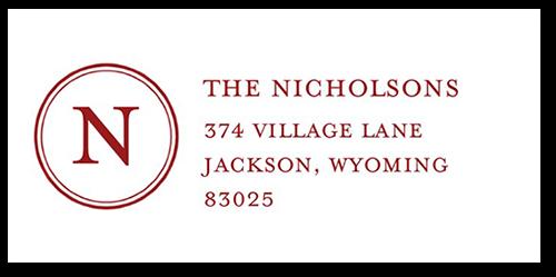 Solid Monogram Address Label