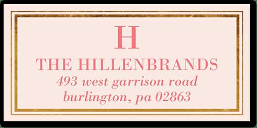 Gilded Monogram Address Label