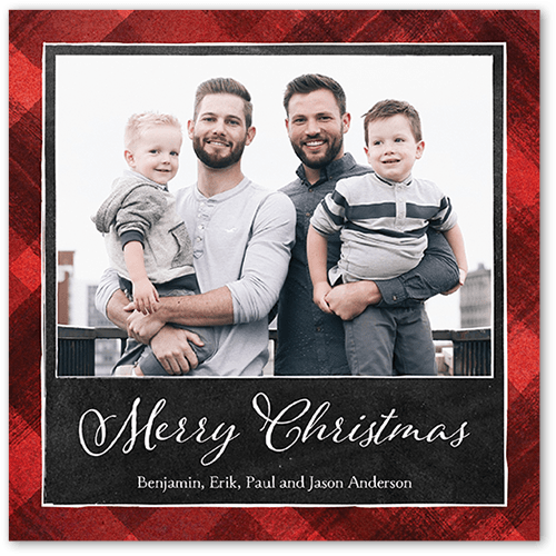 plaid chalk holiday card - Shutterfly Holiday Cards