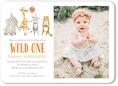 Safari Party Birthday Invitation
