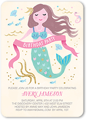 Mermaid Love Birthday Invitation